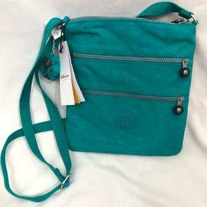Kipling NWT Alvar crossbody purse teal blue